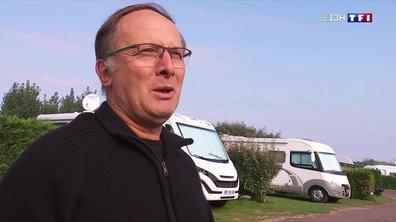Les campeurs profitent du soleil en Normandie