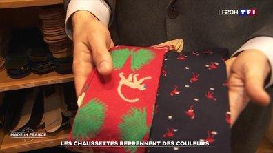 Les chaussettes made in France reprennent des couleurs dans les Vosges