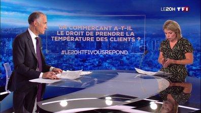 Les commerçants ont-ils le droit de prendre la température des clients ? Le 20H de TF1 répond à vos questions