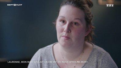Les confidences de Laurenne sur le souhait de son mari d'avoir un enfant après sa mort