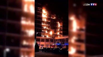 Les locaux d'un hôpital à Créteil en proie à un incendie mortel