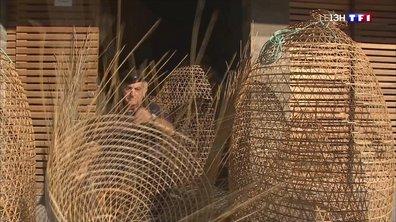 Les nasses en osier fabriquées par des pêcheurs corses