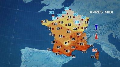 Les prévisions météo du JT de 13 heures du 10 février 2020