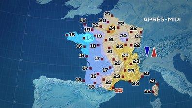 Les prévisions météo du JT de 13 heures du 11 juin 2020