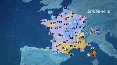 Les prévisions météo du JT de 13 heures du 13 mai 2020