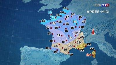 Les prévisions météo du JT de 13 heures du 14 mai 2020