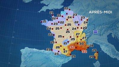 Les prévisions météo du JT de 13 heures du 15 août 2019