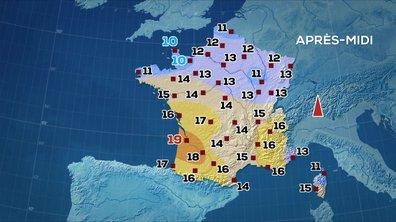 Les prévisions météo du JT de 13 heures du 1er avril 2020