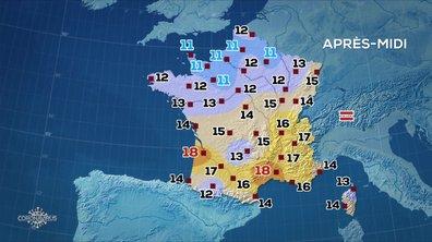 Les prévisions météo du JT de 13 heures du 2 avril 2020