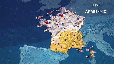 Les prévisions météo du JT de 13 heures du 24 février 2020