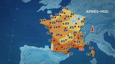 Les prévisions météo du JT de 13 heures du 25 mai 2020