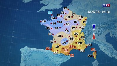 Les prévisions météo du JT de 13 heures du 29 avril 2020