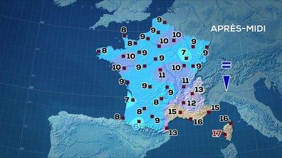 Les prévisions météo du JT de 13 heures du 30 mars 2020