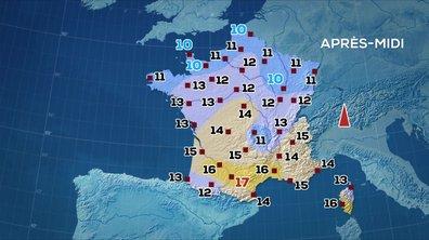 Les prévisions météo du JT de 13 heures du 31 mars 2020