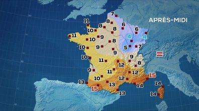 Les prévisions météo du JT de 13 heures du 6 janvier 2020