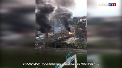 Les scènes de violences urbaines se multiplient dans l'agglomération lyonnaise
