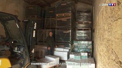 Les vignerons croulent sous les stocks