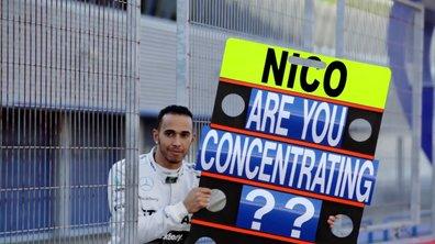 Insolite : quand Hamilton déconcentre Rosberg au volant...