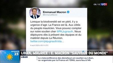 """Liban, Maurice : Emmanuel Macron """"sauveur du monde"""""""