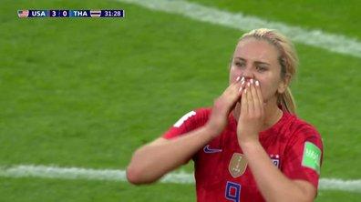 USA - Thaïlande (3 - 0) : Voir le but de Horan en vidéo