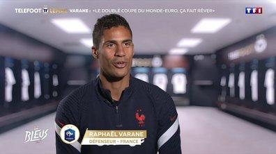 """L'interview - Varane : """"Le doublé Coupe du monde / Euro, ça fait rêver"""""""