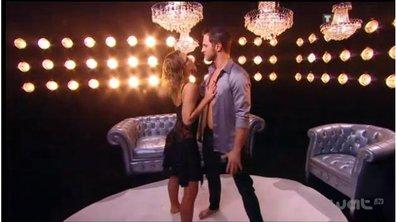 Côté coulisses : Lorie et Christian avant leur entrée en scène.