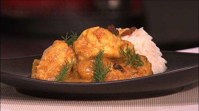 Lotte au curry et yaourt