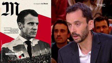 """""""En aucun cas, on a voulu associer Emmanuel Macron à une imagerie nazie"""" : Luc Bronner revient sur la couv' polémique du magazine M"""