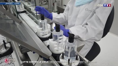 Lutte contre le coronavirus : des entreprises se montrent solidaires