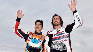 Honda - Alonso s'éclate sur deux roues à Motegi et s'offre le scalp de Marquez !