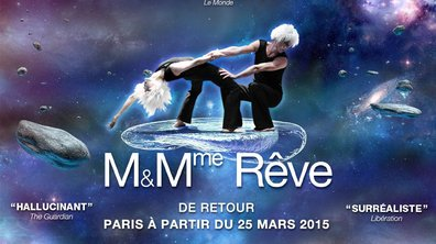 """Marie-Claude Pietragalla et Julien Derouault sont de retour sur scène avec leur spectacle """"M. & Mme Rêve"""" à partir du 25 mars 2015"""