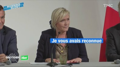 Marine Le Pen agacée par une journaliste de l'AFP