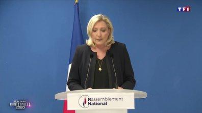 """Marine Le Pen : """"Le second tour n'aura manifestement pas lieu compte tenu de l'aggravation de l'épidémie"""""""
