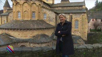 Marine Le Pen, en plein pèlerinage...