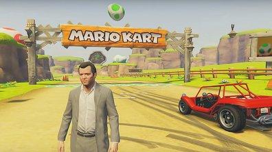 GTA V rencontre Mario Kart