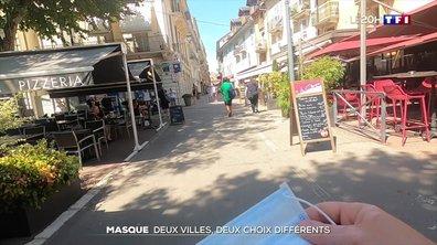 Masque : deux villes, deux choix différents