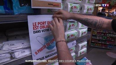 Masque obligatoire dès lundi : les supermarchés se préparent