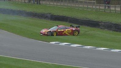 Goodwood : L'accident de la McLaren F1 GTR de Nick Mason (Pink Floyd)