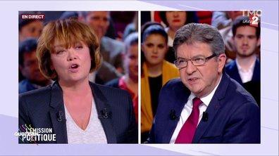 Mélenchon et son « punching ball » Nathalie Saint-Cricq