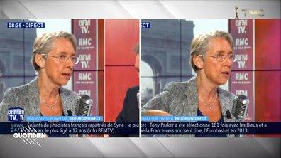 Même discours ET même tenue : Elisabeth Borne nous fait voir double
