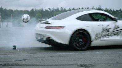 Insolite : un pilote F1 peut-il jouer au foot en Mercedes-AMG GT ?