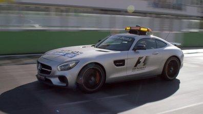 La Mercedes-AMG GT voiture de sécurité de la F1 2015