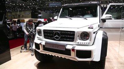 Le Mercedes G500 4x4² fait le show au Salon de Genève 2015