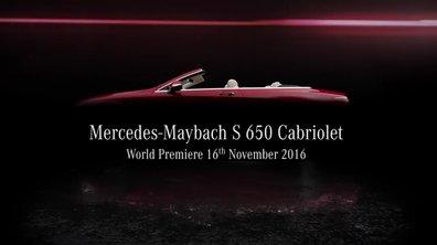 Mercedes-Maybach S 650 Cabriolet 2017 : premières images de la découvrable de luxe