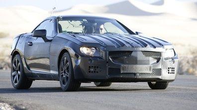 La nouvelle Mercedes SLK dans la Vallée de la Mort