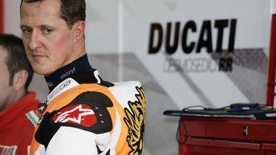 Michael Schumacher victime d'un accident de moto