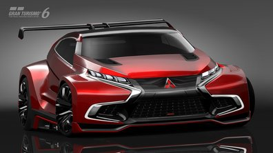 Mitsubishi Concept XR-PHEV Evolution Vision GT 2014 : crossover sportif pour GT6