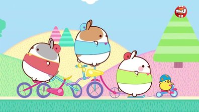 Molang - La promenade à vélo
