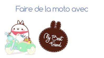 Molang - Faire de la moto  #MyBestFriend - saison 2
