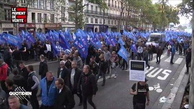 """Le Moment de vérité - """"La République est debout grâce à nous"""", la colère de la manif des policiers"""